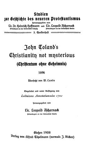 Christentum ohne Geheimnis PDF
