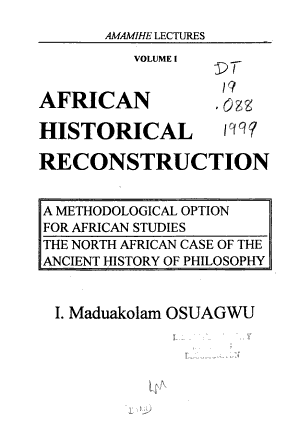African Historical Reconstruction