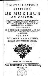 Dionysii Catonis Disticha de moribus ad filium