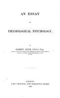 An essay on Physiological Psychology PDF