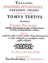Thesaurus polono-latino-graecus. Ed. II.