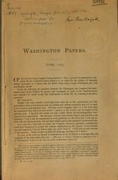 Specimen pages of a proposed publication of the papers of Washington, Franklin, etc