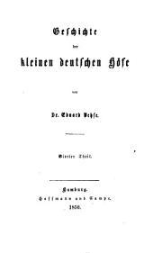 Geschichte der deutschen höfe seit der reformation: Band 38