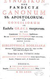 Synodikon sive Pandectae Canonum SS. Apostolorum et Conciliorum ab ecclesia graeca receptorum ...: totum opus in duos tomos divisum
