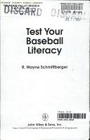 Test Your Baseball Literacy PDF