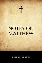Notes on Matthew
