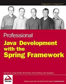 Professional Java Development with the Spring Framework PDF