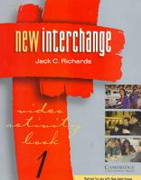 New Interchange Video Activity Book 1 PDF