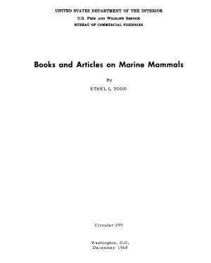 Books and Articles on Marine Mammals