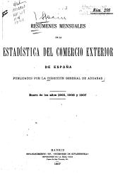 Résumenes Mensuales de la Estadistica del Comercio Exterior de España