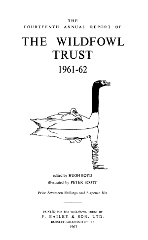 The Annual Report of the Wildfowl Trust