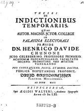 De indictionibus temporariis; resp. David Grundgreiffer