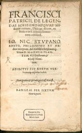 De legendae scribendaeque historiae ratione