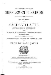 Franz  sisch deutsches Supplement Lexikon PDF