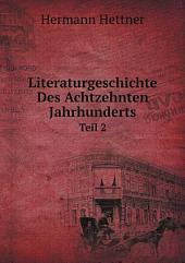 Literaturgeschichte Des Achtzehnten Jahrhunderts