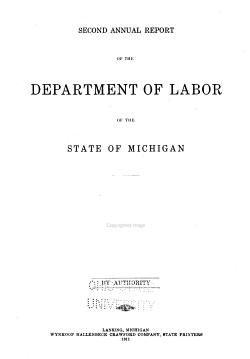 Annual Report of the Department of Labor of the State of Michigan PDF