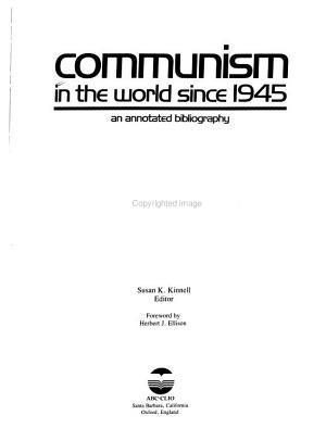 Communism in the World Since 1945 PDF