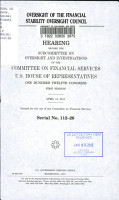 Oversight of the Financial Stability Oversight Council PDF