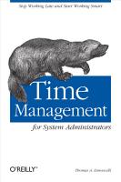 Time Management for System Administrators PDF