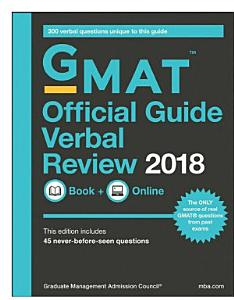 GMAT Official Guide 2018 Verbal Review  Book   Online Book
