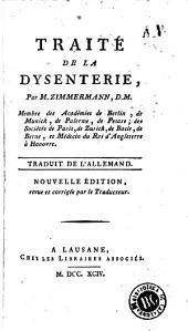 Traité de la dysenterie