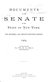 Documents of the Senate of the State of New York: Volume 7