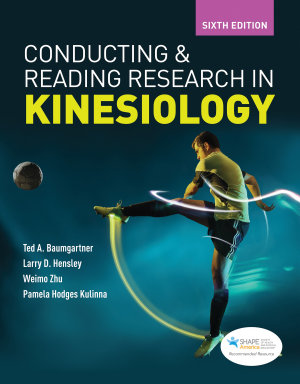 Conducting and Reading Research in Kinesiology PDF