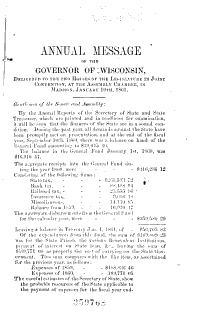 Public Documents of the State of Wisconsin  Being the Biennial Reports of the Various State Officers  Departments and Institutions Book