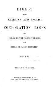American and English corporation cases PDF