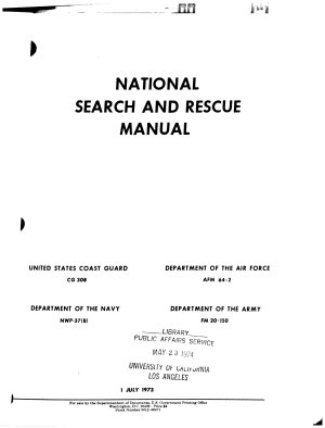 National Search and Rescue Manual PDF