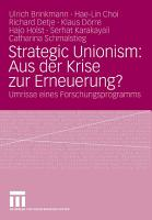 Strategic Unionism  Aus der Krise zur Erneuerung  PDF