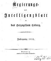 Regierungs- und Intelligenzblatt für das Herzogtum Coburg: 1855