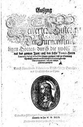 Außzug Bewerter Historien Der Fürnemsten Heiligen Gottes: durch die zwölff Monat des gantzen Jars