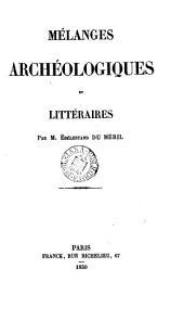 Mélanges archéologiques et littéraires