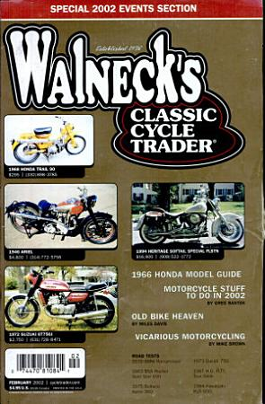 WALNECK S CLASSIC CYCLE TRADER  FEBRUARY 2002 PDF