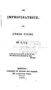 The Improvisatrice: And Other Poems