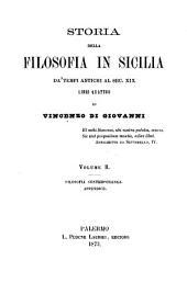 Storia della Filosofia in Sicilia da'tempi antichi al sec. XIX: Libri quattro. II