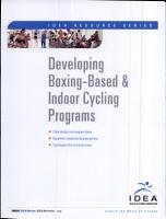 Developing Boxing Based and Indoor Cycling Programs PDF
