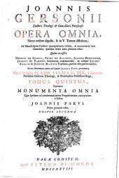 Ioannis Gersonii Opera omnia: Volume 5