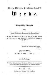 Vorlesungen über die Aesthetik (2v.)