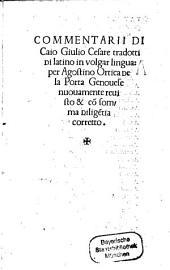 Commentarii Di Caio Giulio Cesare