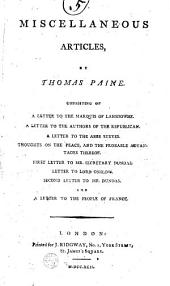 Miscellaneous Articles: By Thomas Paine
