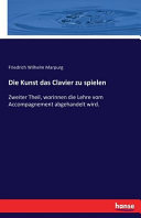 Die Kunst das Clavier zu spielen PDF