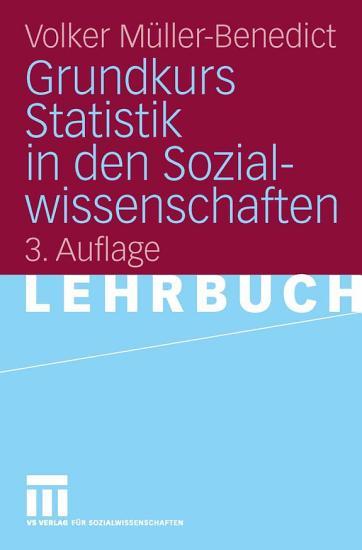 Grundkurs Statistik in den Sozialwissenschaften PDF