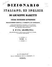 Dizionario italiano, ed inglese: Volume 1