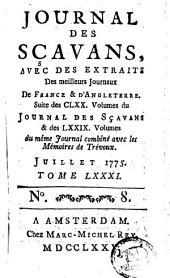 Journal des sçavans, avec des extraits des meilleurs journaux de France et d'Angleterre: Volumes81à82