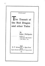 The Transit of the Red Dragon and Other Tales PDF