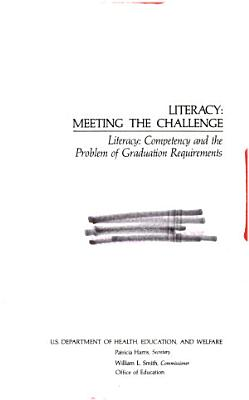 Literacy  meeting the challenge