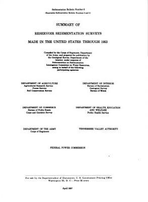 Summary of Reservoir Sedimentation Surveys Made in the United States Through 1953