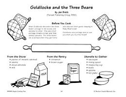 Goldilocks and the Three Bears  Dressed Up Porridge Recipe PDF